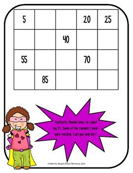 Counting Practice Math Center - Super Skip Counting Center Practice Mats