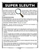 Super Sleuth!  A Fun Ice-Breaker Game for the First Day of