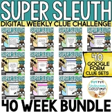 Super Sleuth DIGITAL Clue Challenge: 40 Week BUNDLE | DIST