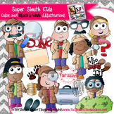 Super Sleuth Detective Kids Clip Art