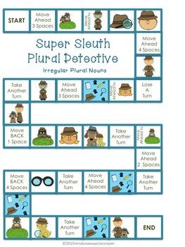 Super Sleuth Irregular Plural Nouns Detective