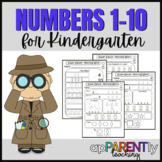 Super Sleuth Morning Math 0-10 No Prep