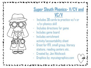 Super Sleuth Phonics: V/CV and VC/V