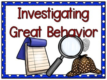 Super Sleuths Detective / Mystery Themed Behavior Clip Chart