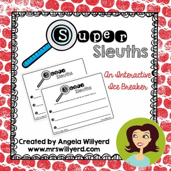 Back to School Ice Breaker - Super Sleuths