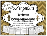 Written Comprehension Questions ~ Reading Response for any story