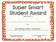 Super Smart Student Award Freebie