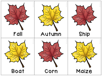 Thanksgiving Themed Synonyms
