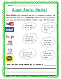 Super Social Media!: A media literacy worksheet