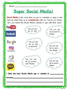 Super Social Media!: A media literacy worksheet