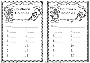 Super Social Studies Centers Bundle: Southern Colonies