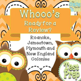 Super Social Studies Review: Roanoke, Jamestown, Plymouth