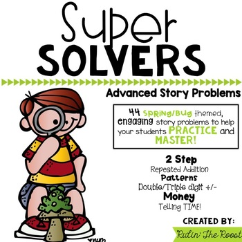 Super Solvers: Buggy/Spring themed 2nd grade math word problems 2