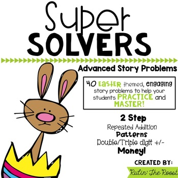Super Solvers: Easter themed 2nd grade math word problems