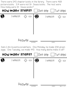 Super Solvers: Silly Reading themed 2nd grade math word problems