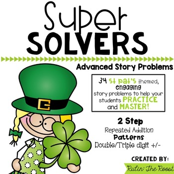 Super Solvers: St Patrick's Day themed 2nd grade math word problems