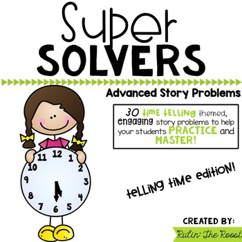 Super Solvers: TELLING TME 2nd grade math word problems