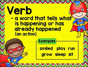 Super Sorting Nouns and Verbs