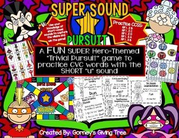 Super Sound Pursuit Game: CVC with Short-U
