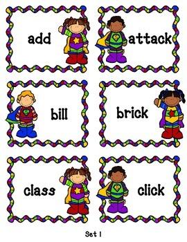 Super Sounds: Double Consonant & -ck Word Activities