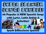 Super Spanish Songs Bundle for All Levels of Spanish classes