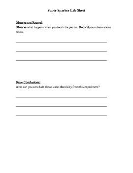 Super Sparker Lab Sheet