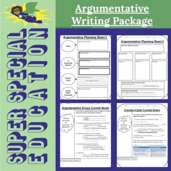 Super Special Education - Argumentative Writing Package