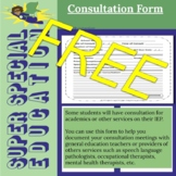 Super Special Education Consultation IEP Forms