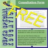 Super Special Education Consultation IEP Forms