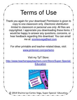 Super Special Education IEP Behavior Point Sheet