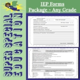Super Special Education IEP Forms Package