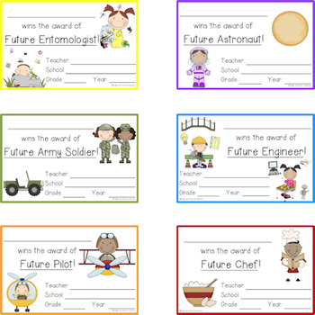 Super, Specialty, and Silly Student Awards! End of the Year Awards