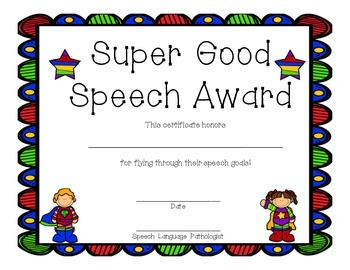 Super Speech Certificates