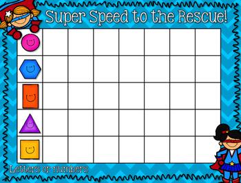 Intervention:  ELA or Math Superheroes EDITABLE