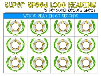 Super Speed Record Sheets