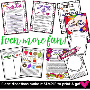 Print & GO Sub Plans!  2 days of Awesome Activities to go w/ Pinkalicious!!