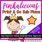 Print & GO Sub Plans ...  2 days of Awesome Activities to go w/ Pinkalicious!!