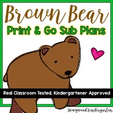 Sub Plans ...  Print & GO Activities & Projects to accompany Brown Bear