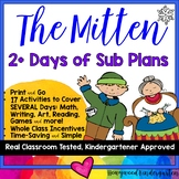 Sub Plans to go w/ The Mitten by Jan Brett . 2+ Days . Print & GO!