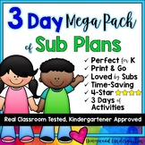 Sub Plans MEGA PACK!  3 days of activities to go with 3 po