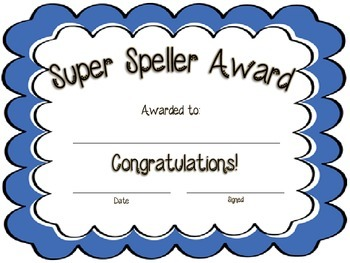 Super Speller Award