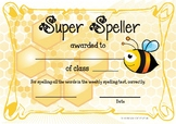 Super Speller Award