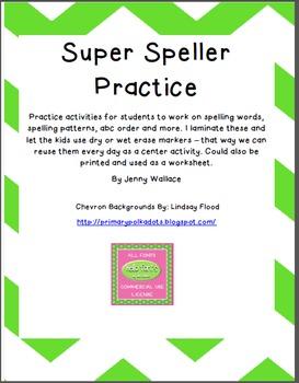 Super Speller Practice