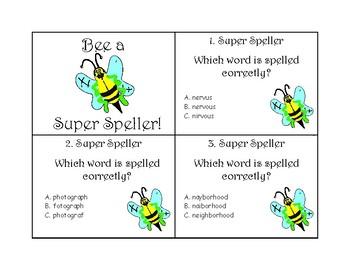 Super Speller Task Cards