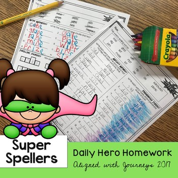 Super Spellers - Spelling Homework for the entire year - Journey Aligned 2017