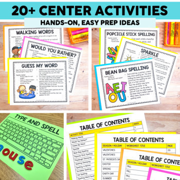 Spelling Activities for any list of words Printable & Digital Distance Learning