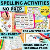 Printable & Digital Spelling Activities | Digital Word Work |  Distance Learning