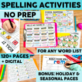 Printable and Digital Spelling and Word Work Activities fo