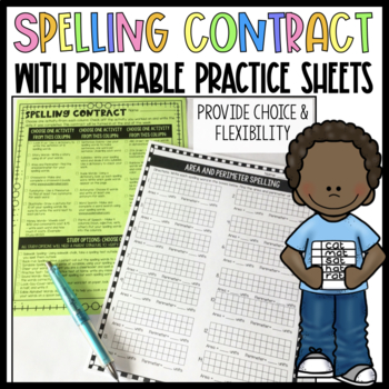 Spelling Contract Teaching Resources | Teachers Pay Teachers