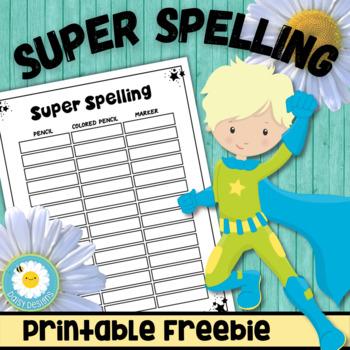 Super Spelling Freebie